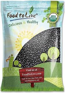 Organic Black Turtle Beans, 15 Pounds - Dried, Non-GMO, Kosher, Raw, Sproutable, Vegan, Bulk