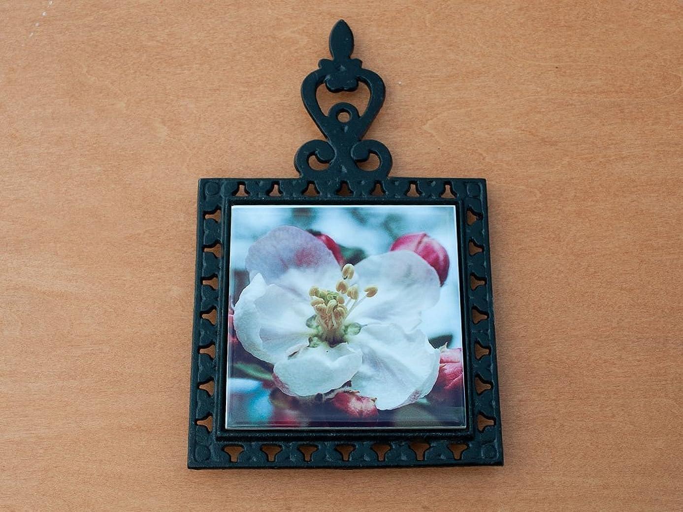 Trivet, Wrought Iron, Apple Blossom Design