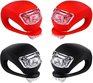 SAYGOGO Malker Bicycle Light Front and Rear Silicone LED Bike Light Set - Bike Headlight and Taillight,Waterproof & Safety Road,Mountain Bike Lights,Batteries Included,4 Pack