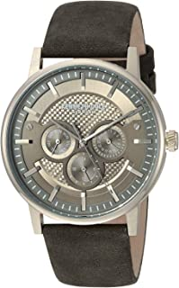 Kenneth Cole New York Men's Analog-Quartz Watch With Leather Strap Kc15203002 Black