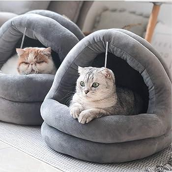 Tempcore Cat Bed for Indoor Cats, Machine Washable Cat Beds, Cat Beds for Indoor Cats or Small Dogs, Puppy, Kitty, Kitten, Rabbit, Anti-Slip & Water-Resistant Bottom