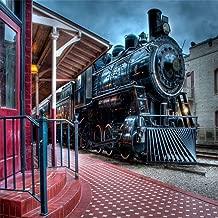 train photo backdrop