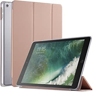 Poetic Slimline New iPad 9.7 Inch 2017/2018 Case Slim-Fit Trifold Cover Stand Folio Case with Auto Wake/Sleep for Apple iPad 9.7 2017 / iPad 9.7 2018 Rose Gold