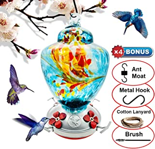 Best blown glass hummingbird feeder Reviews