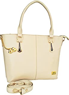 ANGLOPANGLO Sandra Cream Color Imported Genuine leatherette Bag for Girls and Women