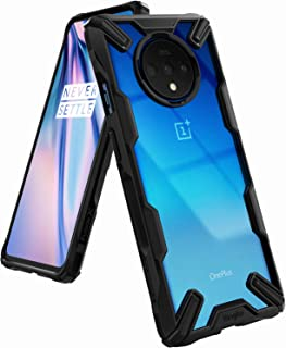 Ringke Fusion-X Designed for OnePlus 7T Case Back Cover, [Military Drop Tested] Ergonomic Transparent PC Back TPU Bumper Impact Resistant Protection for OnePlus 7T Back Cover Case (2019) - Black