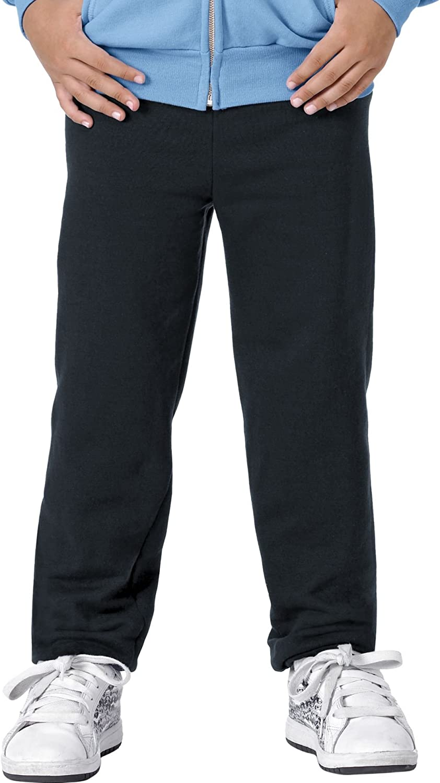 Hanes ComfortBlend Youth Fleece Pant - 7.8 oz, L-Black