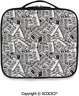 SCOCICI Fashion Personalized Travel Storage Bag Hand Drawn Newspapers Pattern Publication Journalism Events for Daily Use, Ourdoor,Wedding etc(One Size)
