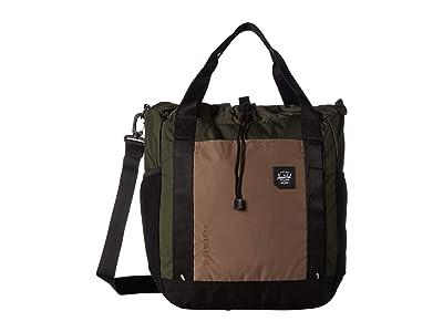 Herschel Supply Co. Barnes (Dark Olive Multi) Tote Handbags