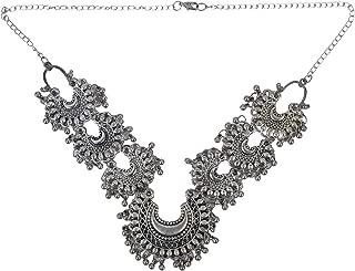 African Indian Turkish Tribal Oxidized Fashion Statement Handmade Chunky Choker Collar Necklace Gypsy Jewelry