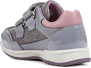 Geox Girls' PAVLIS Sneaker Dual Riptape Straps, Med