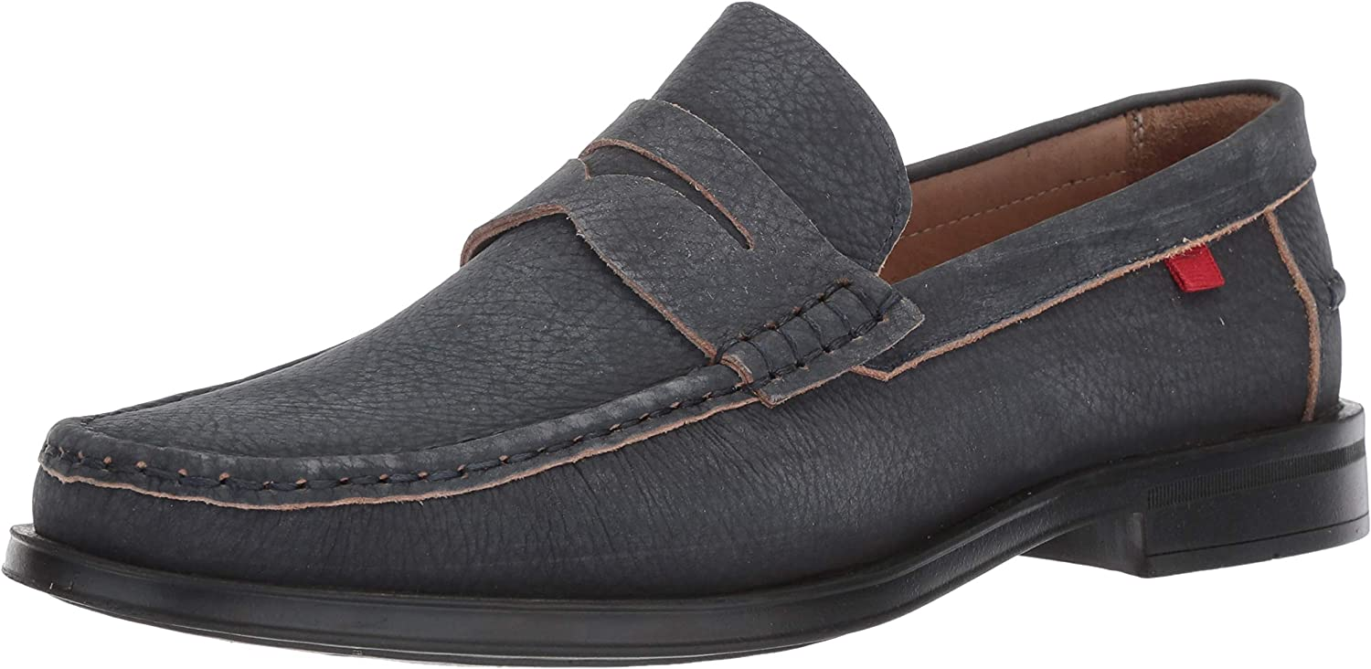 MARC JOSEPH NEW YORK Mens Mens Genuine Leather Made in Brazil Cortlad Loafer bluee Size  9.5