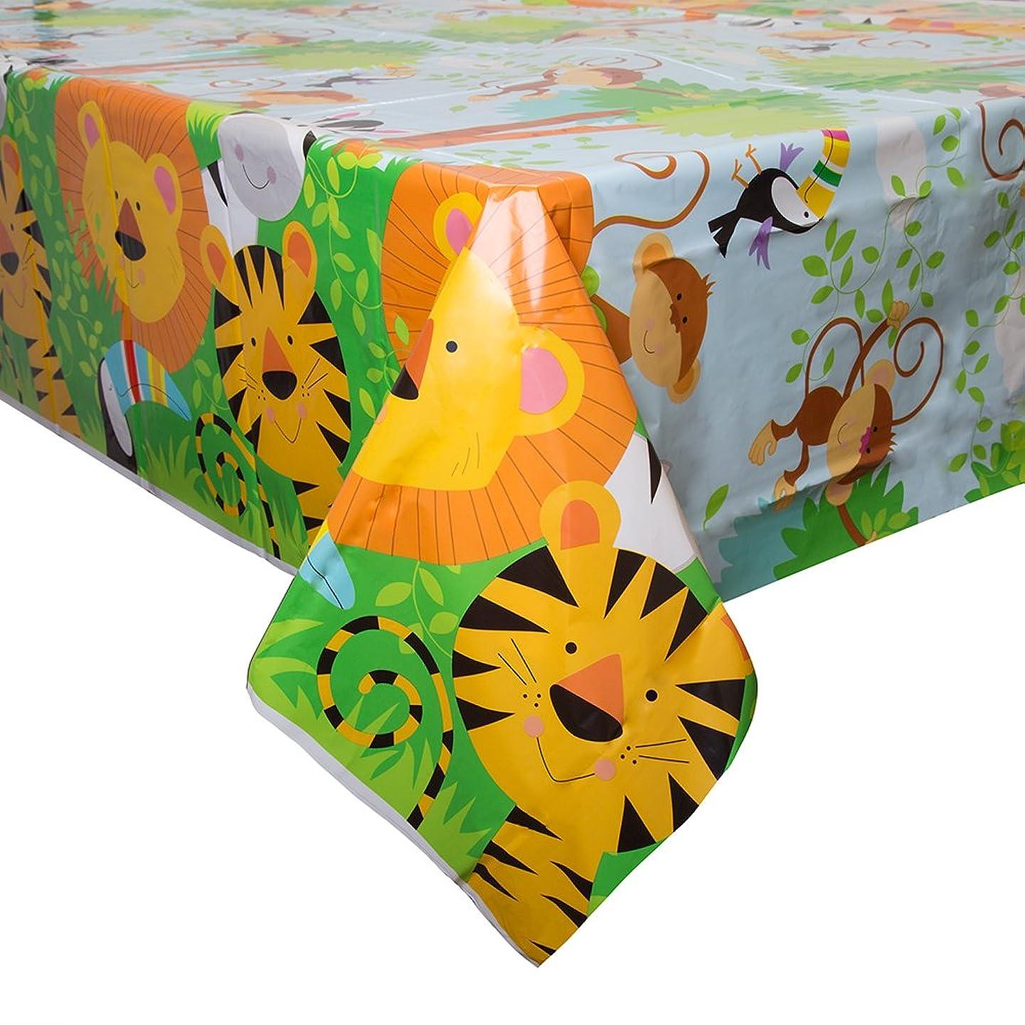 Animal Safari Plastic Tablecloth, 84