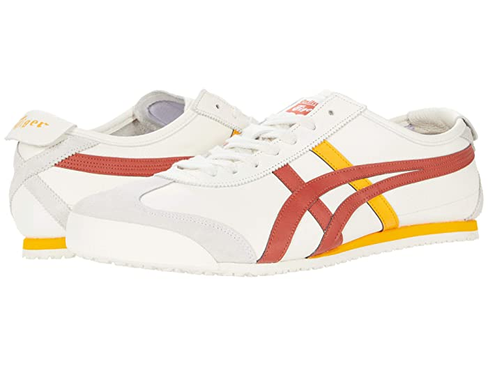 Mens Retro Shoes | Vintage Shoes & Boots Onitsuka Tiger Mexico 66 CreamSpice Latte Lace up casual Shoes $95.00 AT vintagedancer.com