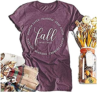 Beopjesk Womens Fall Halloween T Shirt Funny Graphic Tees Short Sleeve Pumpkin Printed Shirts Blouse Tops