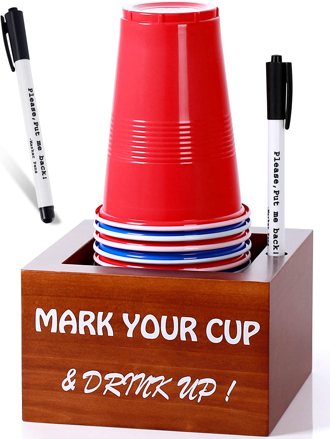 Disposable Cup Holder with famous Marker Slot Drink Your Memphis Mall Mark and U