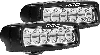 Rigid Industries 915313 SR-Q Series Pro Driving Light; Surface Mount; 5 in.; Specter; 6 White LEDs; Black Rectangular Housing; Set Of 2;