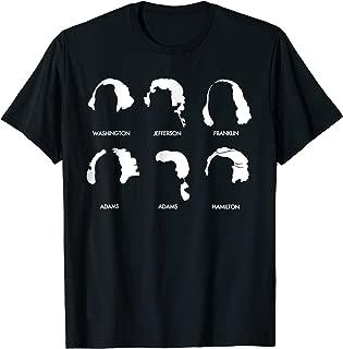American Revolution Hair t-shirt white Hamilton Washington