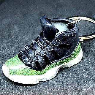 Air Jordan XI 11 Retro High Snakeskin Green OG Sneakers Shoes 3D Keychain 1:6 Figure