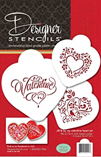 Be My Valentine Heart Set by Designer Stencils by Designer Stencils