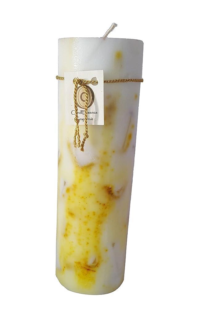 電圧古代おじさんハンドメイドScented Candle?–?Long Burningピラー?–?グレープフルーツ香り L GRPFRT