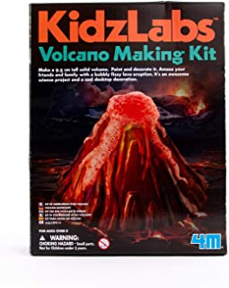 4M KidzLabs Volcano Making Kit - DIY Geology Chemistry Lab STEM Toys Gift for Kids & Teens, Boys & Girls