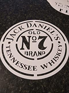 Whiskey Airbrush Stencil Jack daniels for barrel lid painting 7.5