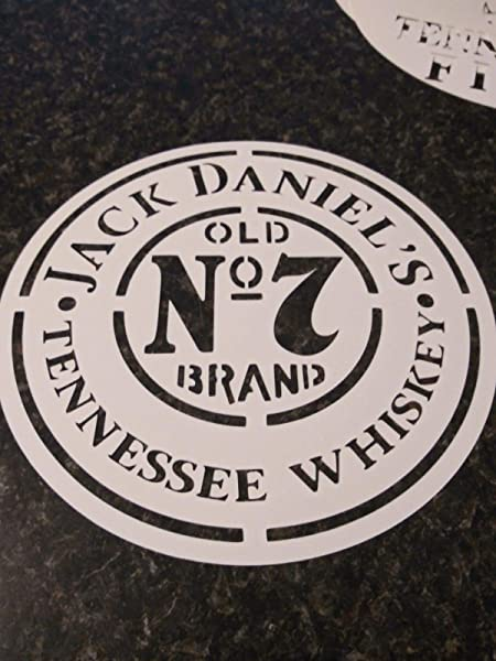 Whiskey Airbrush Stencil Jack Daniels For Barrel Lid Painting 7 5 12 16 22 You Pick Size Reusable