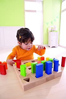 HABA Wooden Educational Preschool Toddler Toys for 3 Above Years (Shape and Color Recognition Geometric Sorting Board) | C...