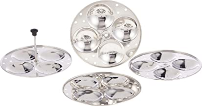 Raj Idli Stand, SIS004, Silver, Stainless Steel