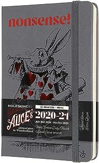Moleskine - Agenda Settimanale 18 Mesi 2020/2021, Planner in Edizione Limitata Alice nel Paese delle Meraviglie, Tema Bian...