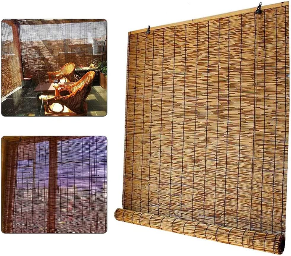 ZDDY trust Bamboo Roller online shop Window Blinds Outdoor Na Up Roll Shades Roman