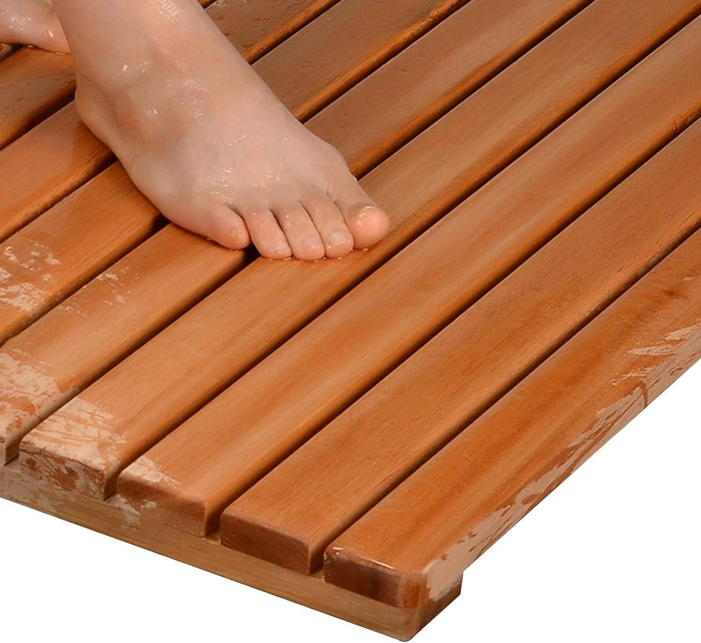 JIAJUAN Natural Wood Max 62% OFF Shower Bath Non-Slip Max 80% OFF F Absorption Mat Water