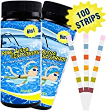 IRISVO Pool Test Strips, Pool Strips 6 in 1 Way pH Water Test Strips for Swimming Pool Spa Hot Tub 100 Count (2 Pack)