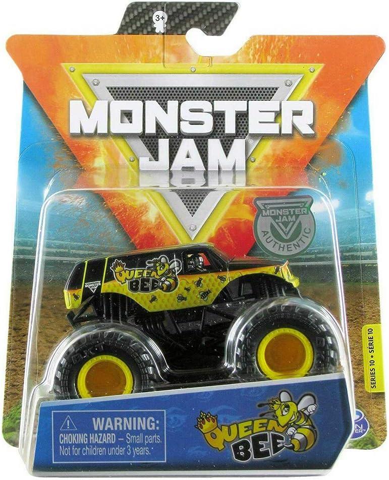Monster Jam, Official Queen Bee Truck, Die-Cast Vehicle, Danger Divas Series, 1:64 Scale