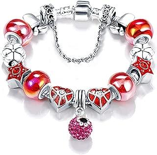 fun-ttore Bottom Price 2 Week Old Silver Original Ladies Glass Charm Bracelet and Bracelet for Pendant Bracelet