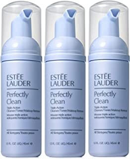 Pack of 3 x Estee Lauder Perfectly Clean Triple-Action Cleanser/Toner/Makeup Remover, 1.5 oz each Trave Size Unboxed