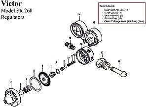 Victor SR260A Acetylene Regulator Rebuild/Repair Parts Kit w/ Diaphagm 0790-0051