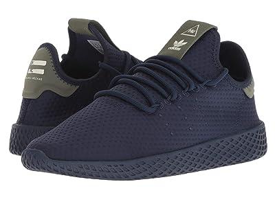 adidas Originals Kids PW Tennis HU J (Big Kid) (Hi-Res Blue/White) Kids Shoes