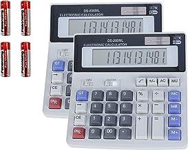 Sponsored Ad - 2 Pack Calculators, Battery and Solar Two Way Power, Extra Big Sensitive Button Desktop Calculators, 12 Dig...