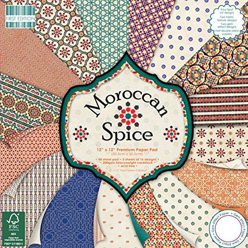 First Edition Trimcraft Hojas de Papel Decorativas de Primera Calidad, 30,48 x 30,48cm, Modelo Moroccan Spice