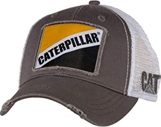 Caterpillar Cat Gray Twill w Patch Cap