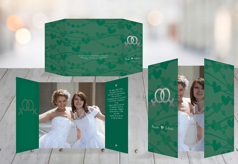 Kartenparadies Hochzeitskarte Im Zeichen der der der Liebe - Frauen, hochwertige Einladung zur Heirat inklusive Umschläge   10 Karten - (Format  145x145 mm) Farbe  DunkelGrün B01NBWMB0T | Garantiere Qualität und Quantität  | Modisch  | Schön geformt  fbb0bb