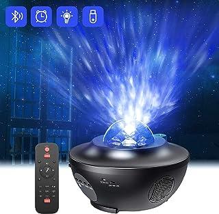 Proyector de Luz Estelar,QXMCOV LED de Luz Nocturna Giratorio,Lámpara de Nocturna Estrellas y Océano,Lámpara Proyector par...