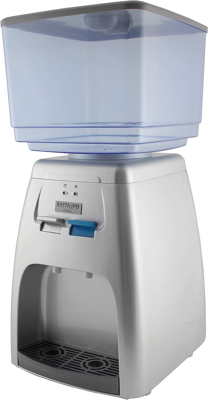 Bastilipo 8437000867623 Manantial-Dispensador de Agua fría de 65W y 7 litros de Capacidad. Temperatura de enfriamiento: 8-15 Grados, Plastico, Plateado