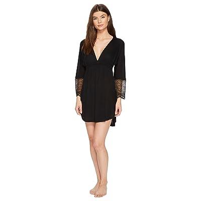 Only Hearts Venice Shirttail Nightdress (Black) Women