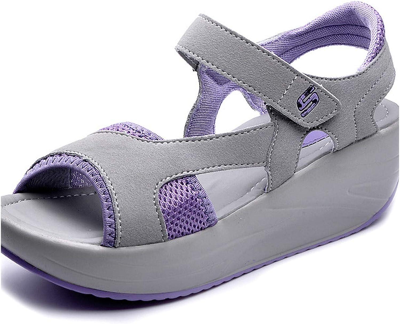 Women Summer Platform Sandals Female Fish Mouth Platform High Heels Wedge shoes Lady Sexy Bule Slope Sandals