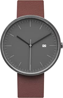 Minimalist Analog Watch | 40MM Unisex for Men Women | Leather Wristband …