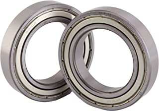 XiKe 2 Pack 6210ZZ Bearings 50x90x20mm, Stable Performance, Cost-Effective, Double Shield and Pre-Lubricated, Deep Groove Ball Bearings.