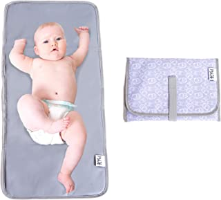 Baby Changing Pad | Fully Padded for Baby's | Foldable Large Waterproof Mat | Portable Travel Station for Toddlers Infants & Newborns (Grey)